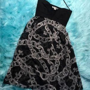 Diane Von Furstenberg size 4 strapless black dress